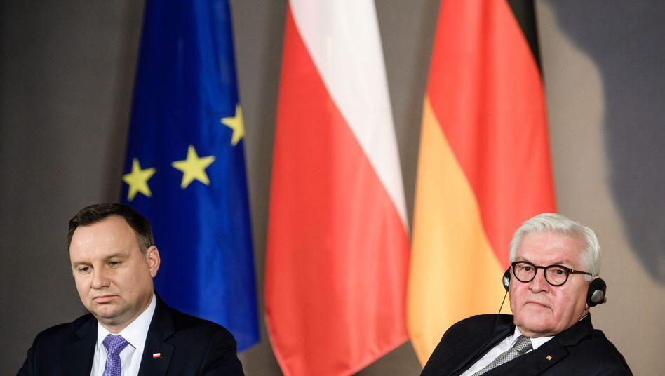 """Polens Präsident Andrzej Duda: """"'Unsere Städte in Trümmern, unsere Hauptstadt komplett zerstört"""""""