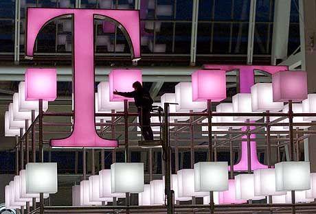 """Trauriges T: Beim rosa Telefonriesen ist man derzeit """"sehr, sehr unglücklich""""."""