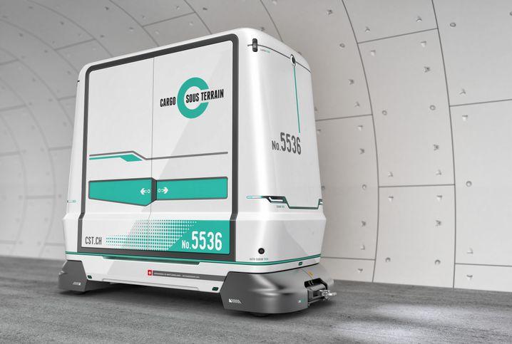 Das unterirdische Schweizer Transportsystem Cargo Sous Terrain soll den Güterverkehr auf den Straßen reduzieren. Die erste Teilstrecke soll ab 2031 den Raum Härkingen-Niederbipp mit Zürich verbinden.
