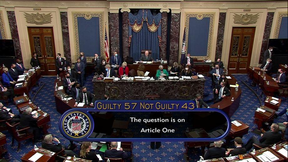 57 Senatoren stimmten für eine nachträgliche Amtsenthebung – doch die nötige Mehrheit wurde verfehlt