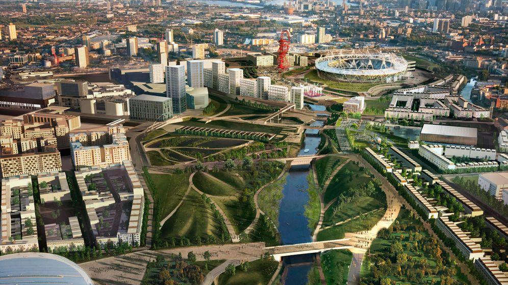 Londoner Olympia-Gelände: Shoppen und Spiele