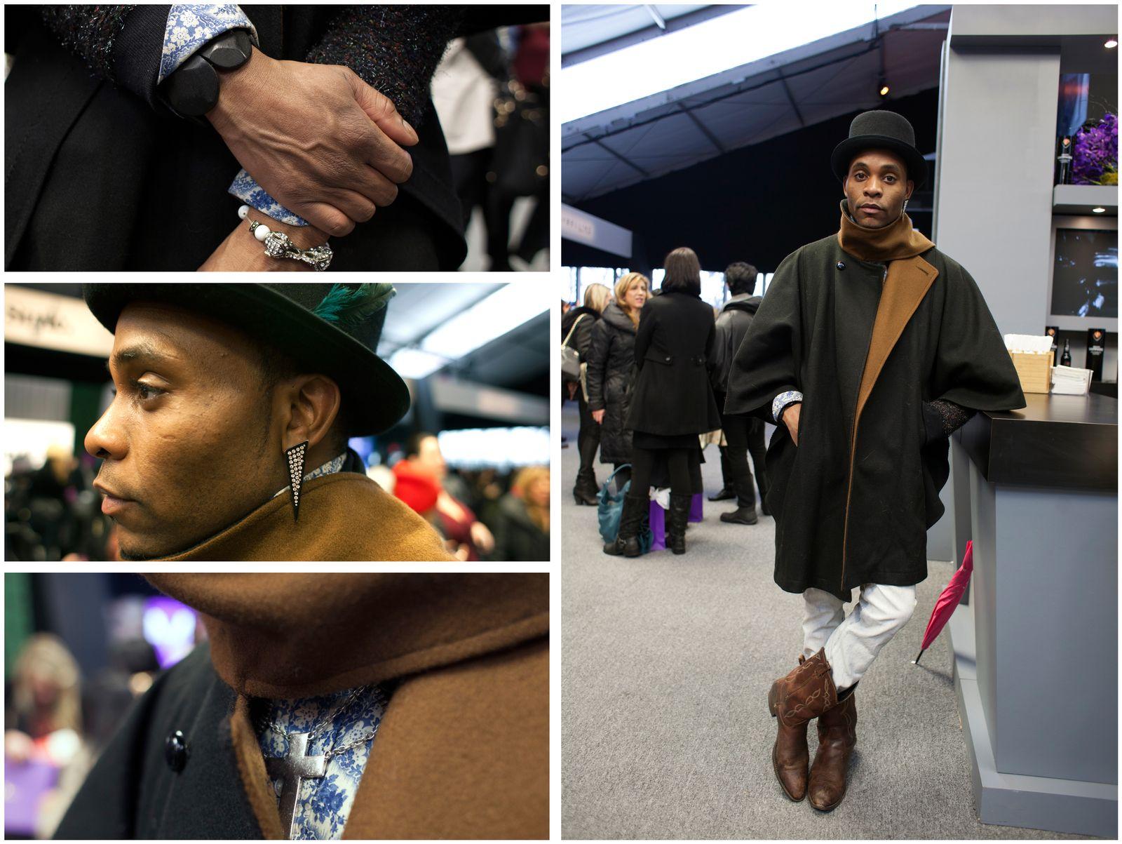 EINMALIGE VERWENDUNG New York Fashion Week/ Streetstyle-Kombo
