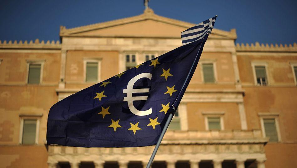 Euroflagge in Athen