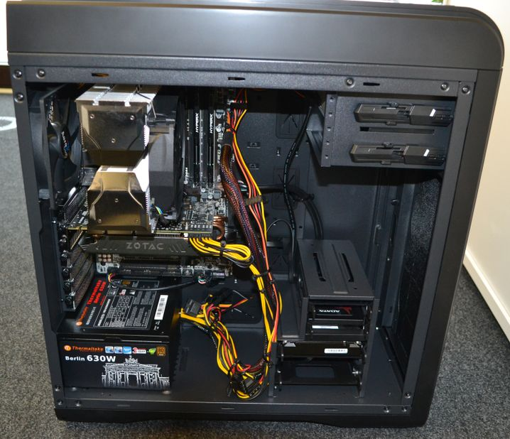 Blick in einen Spiele-PC: Als Grafikkarte wurde hier eine GeForce GTX 970 gewählt
