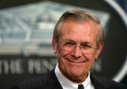 Nur die alten Beweise durch ein Prisma betrachtet: Donald Rumsfeld