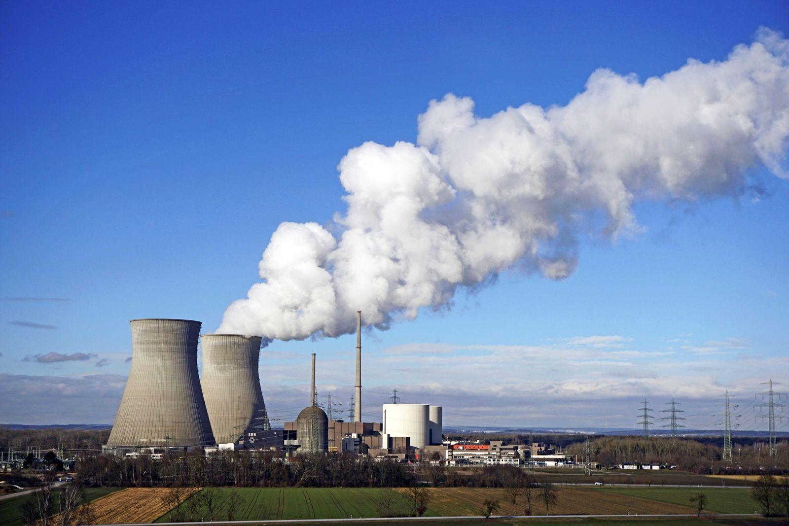 31 01 2019 Gundremmingen Kernkraftwerk an der Donau im Landkreis G¸nzburg betrieben von der RWE