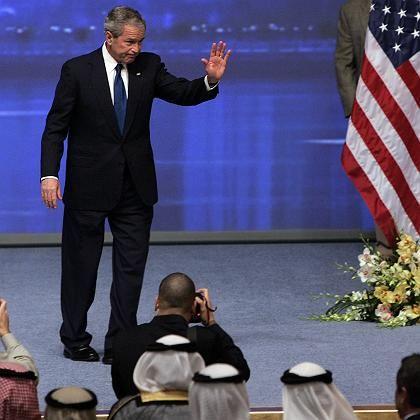 Bush in Abu Dhabi: Ausführungen über die Freiheitsstatue