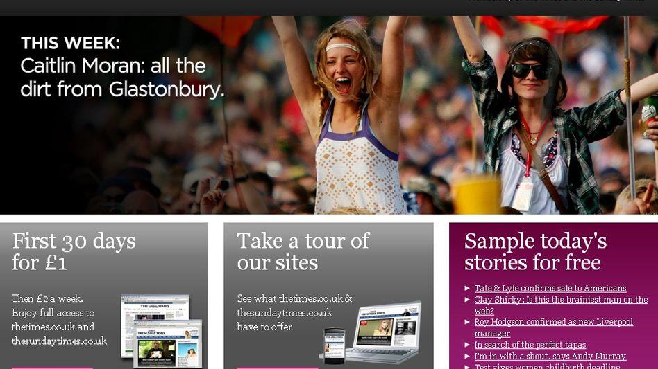 """""""Times""""-Web-Seite: Texte nur noch gegen Gebühr"""