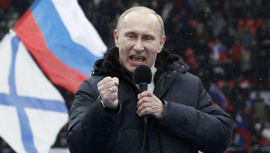 Putin im Präsidentschaftswahlkampf: Umfragen sehen ihn mit satter Mehrheit vorne