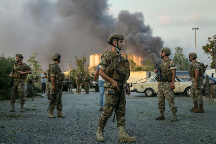 Das Militär beteiligte sich an den Aufräum- und Bergungsarbeiten