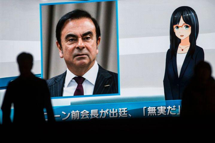 Fernsehleinwand in Tokio