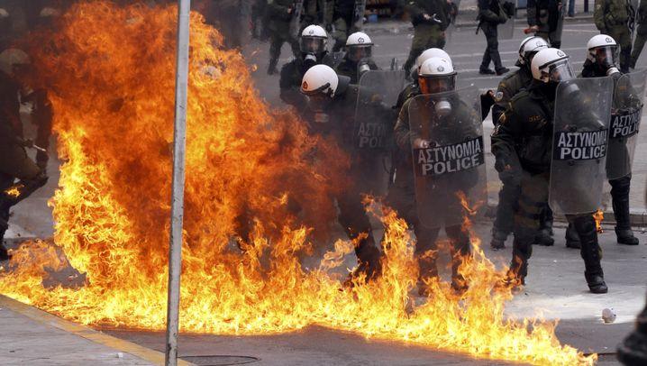 Griechenkrise: Zusammenstöße in Athen