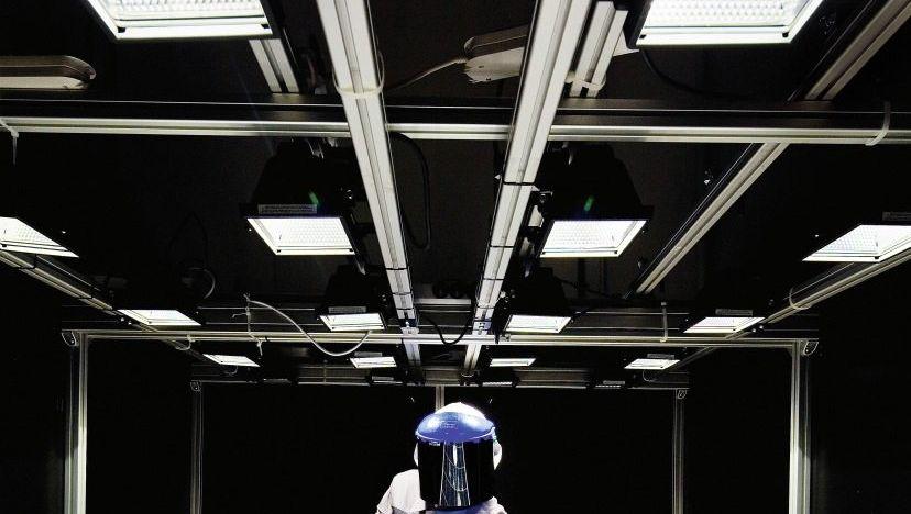 Solarmodul-Produktion