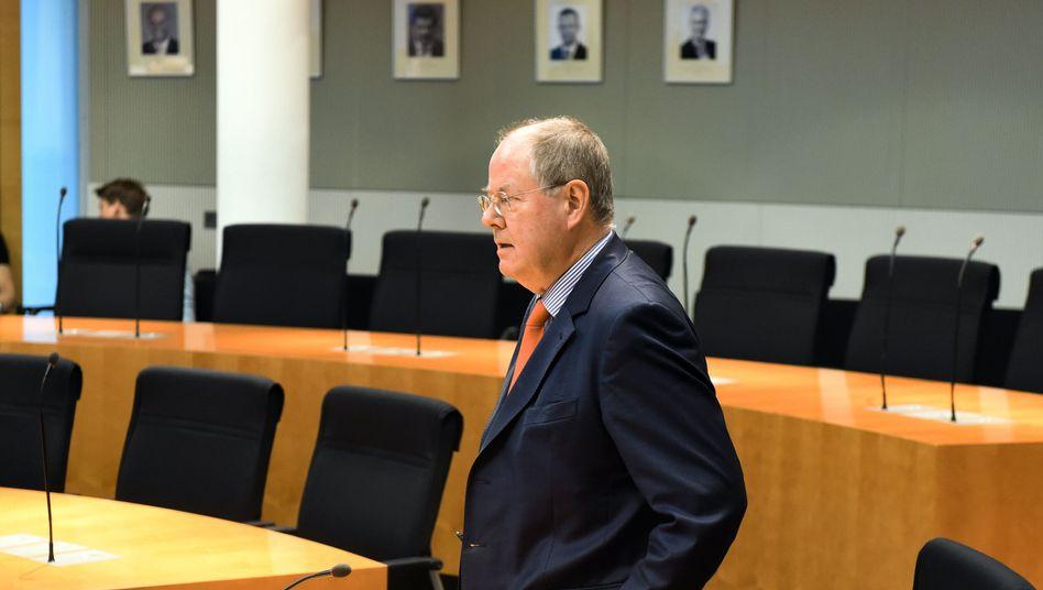 Peer Steinbrück im Cum-Ex-Untersuchungsausschuss