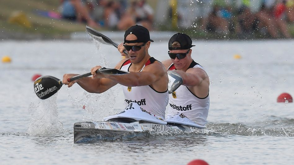 Max Hoff und Jacob Schopf sind nach drei Monaten in einem Boot schon Weltmeister