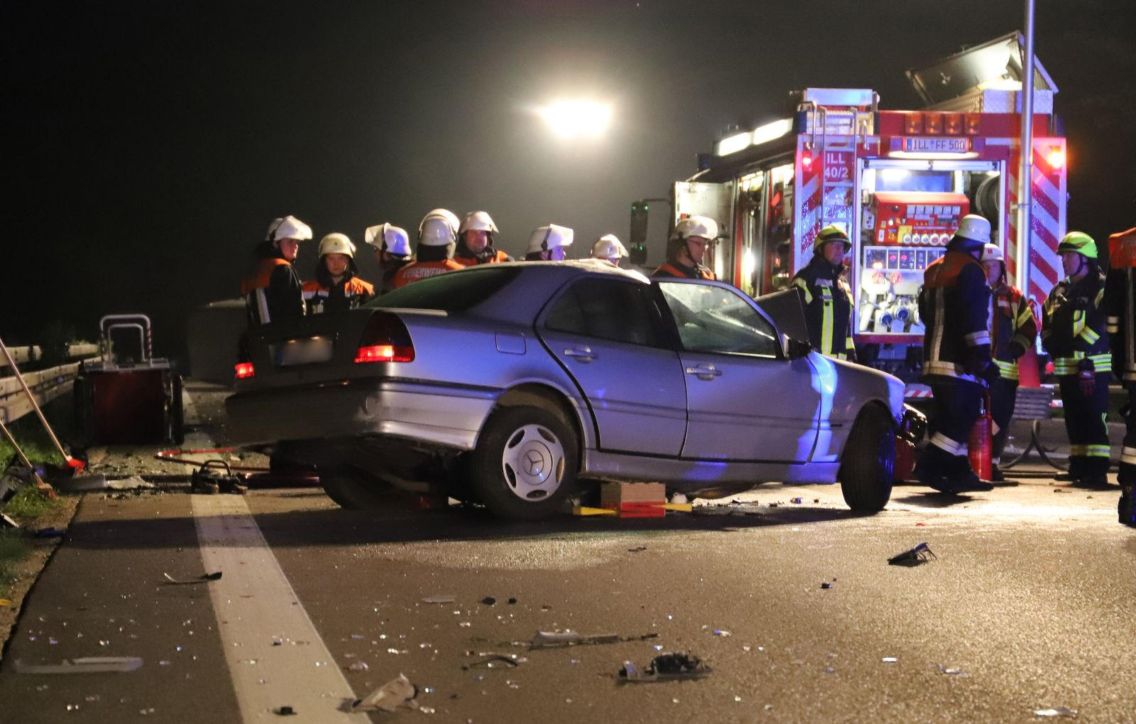 Geisterfahrer-Unfall/ Autobahn 7