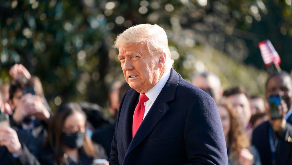 US-Präsident Donald Trump am Dienstag vor dem Weißen Haus
