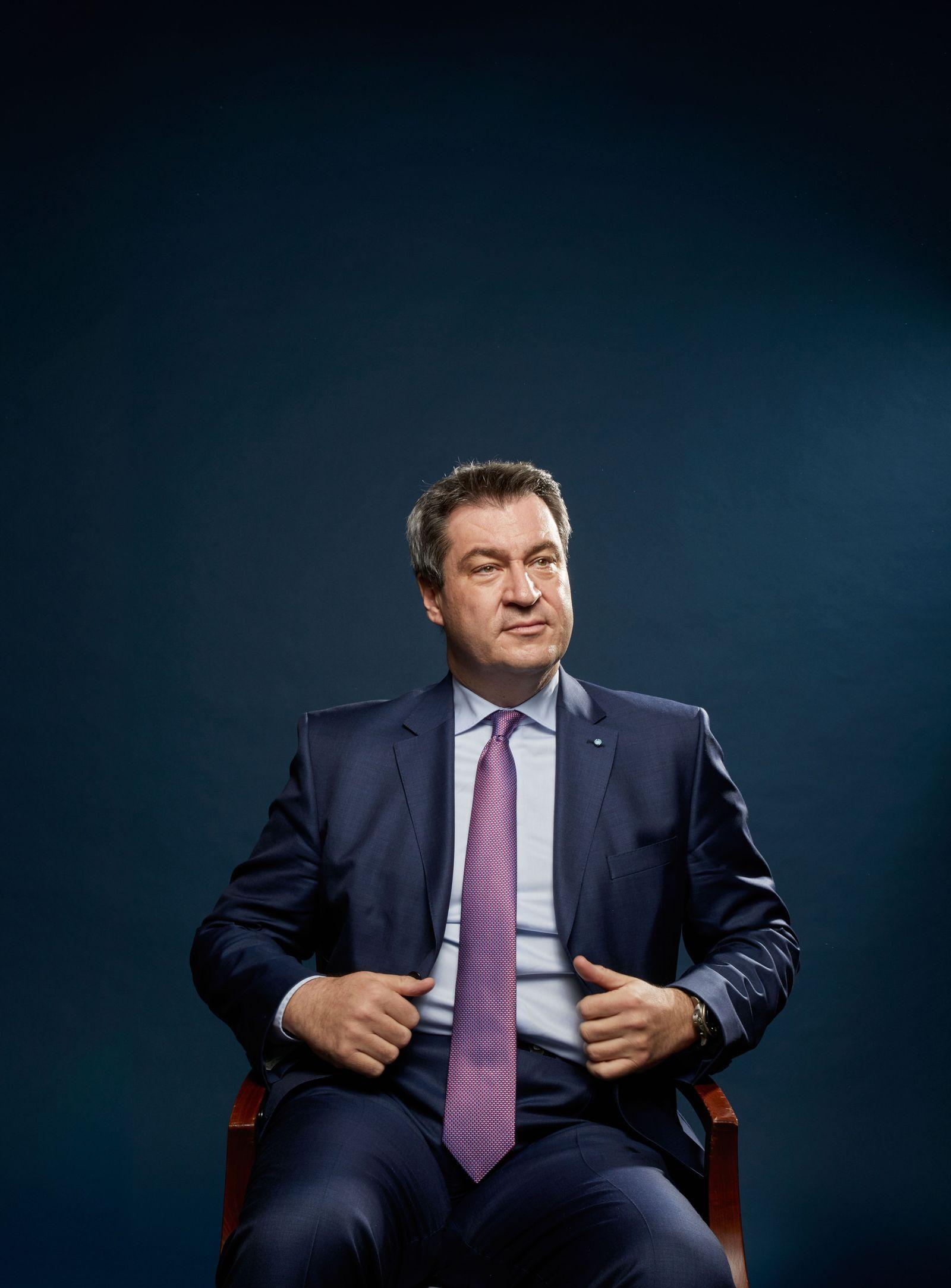 EINMALIGE VERWENDUNG PLUS DER SPIEGEL 16/2018 S. 38 Söder Interview STARTBILD