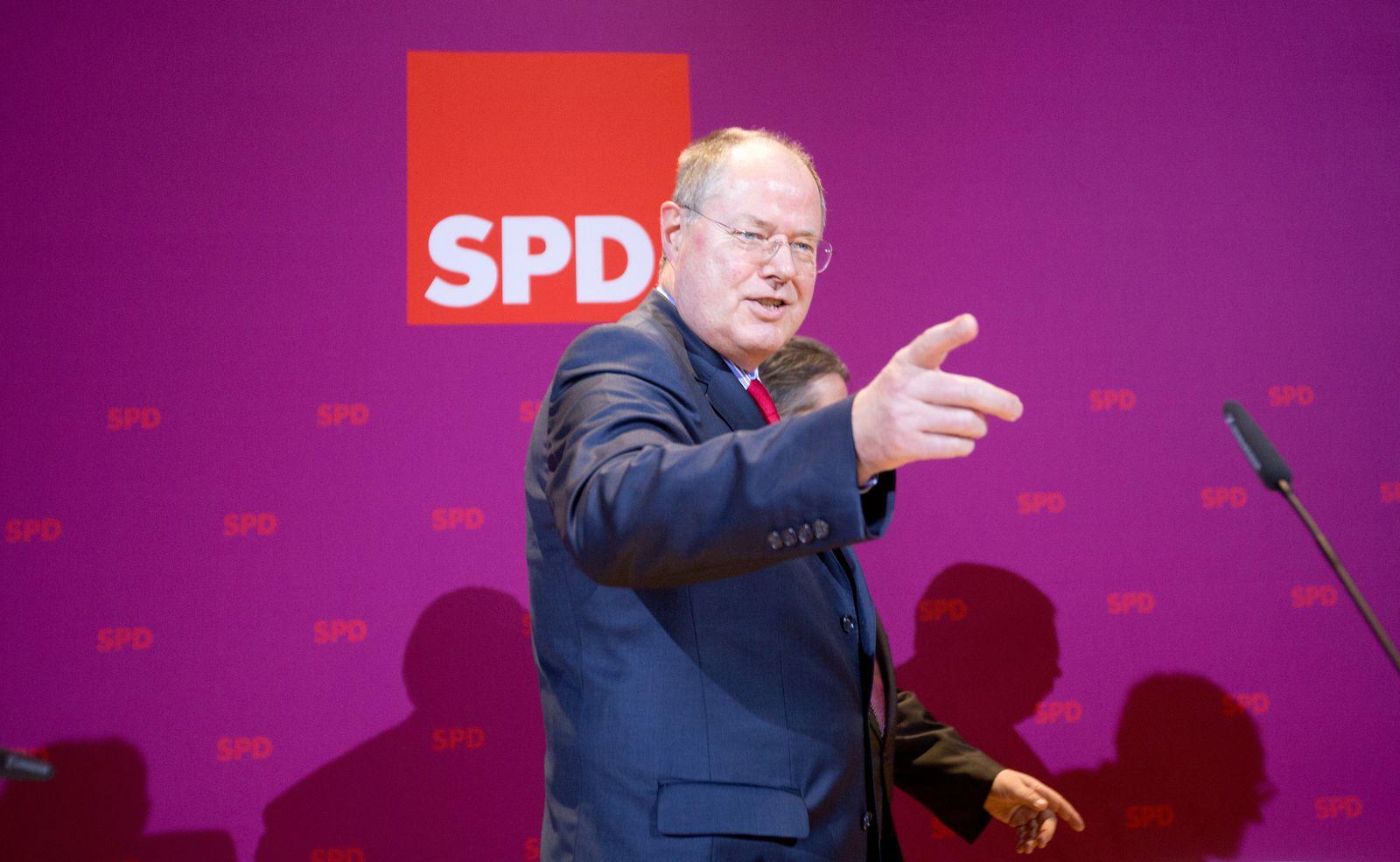 Niedersachsen / Wahlabend / Steinbrück