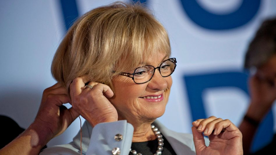 Danish People's Party leader Pia Kjaersgaard faces what could be a tough election Thursday.