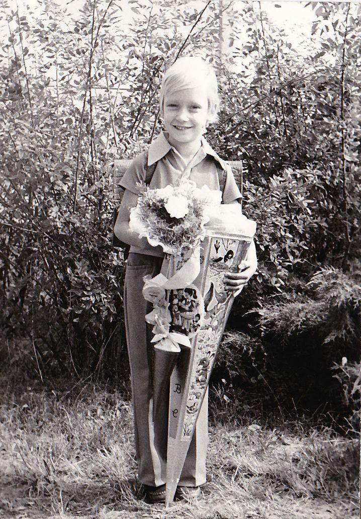 Udo Taubitz bei seiner Einschulung
