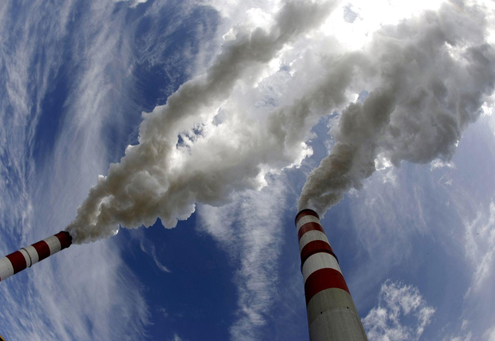 Schonsteine Wolken CO2