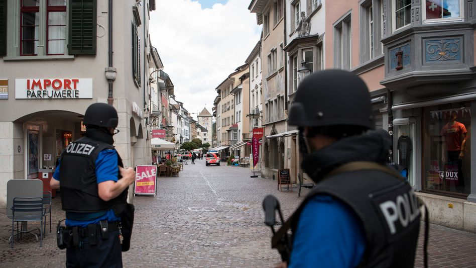 Polizisten in Schaffhausen