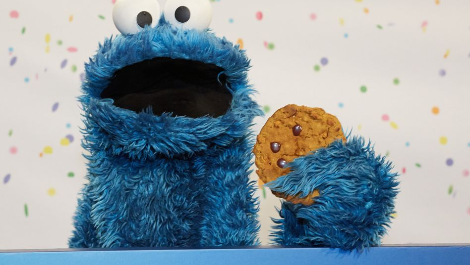 Krümelmonster aus der Sesamstraße mit Cookie