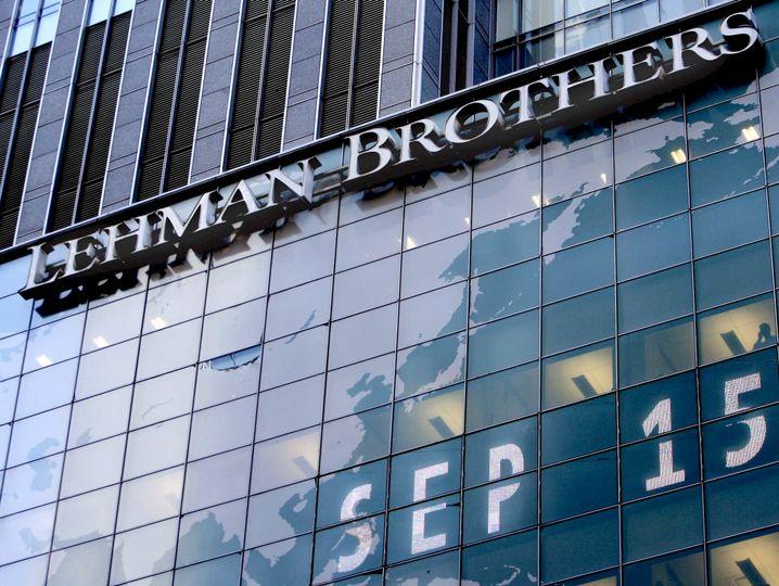 Zentrale von Lehman Brothers in New York, 2008