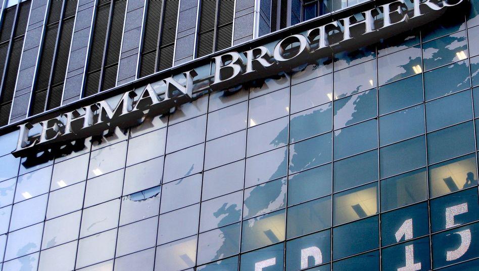 Lehman-Zentrale in New York am Tag der Insolvenz (15. September 2008)