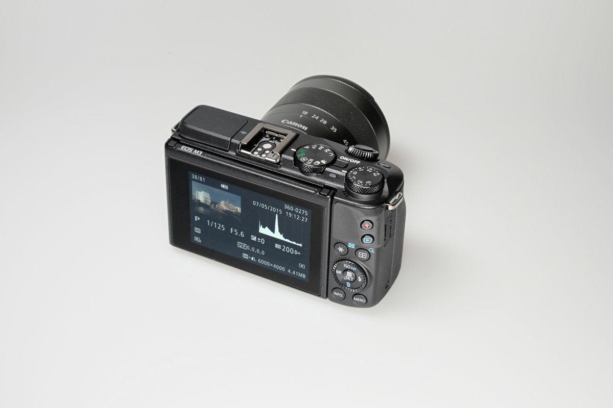EINMALIGE VERWENDUNG Canon EOS M3 Produkt/ 2a Canon EOS M3 hor
