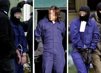 The three terror suspects were arrested in Germany in September. Two of them are German converts to Islam.