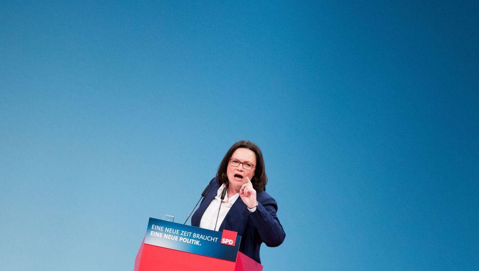SPD-Politikerin Nahles