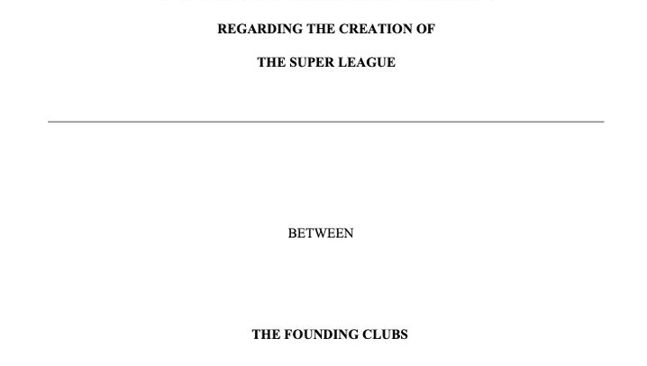 Salary caps, live broadcast rights for clubs, litigation: These clauses are in the secret founding contract of the Super League