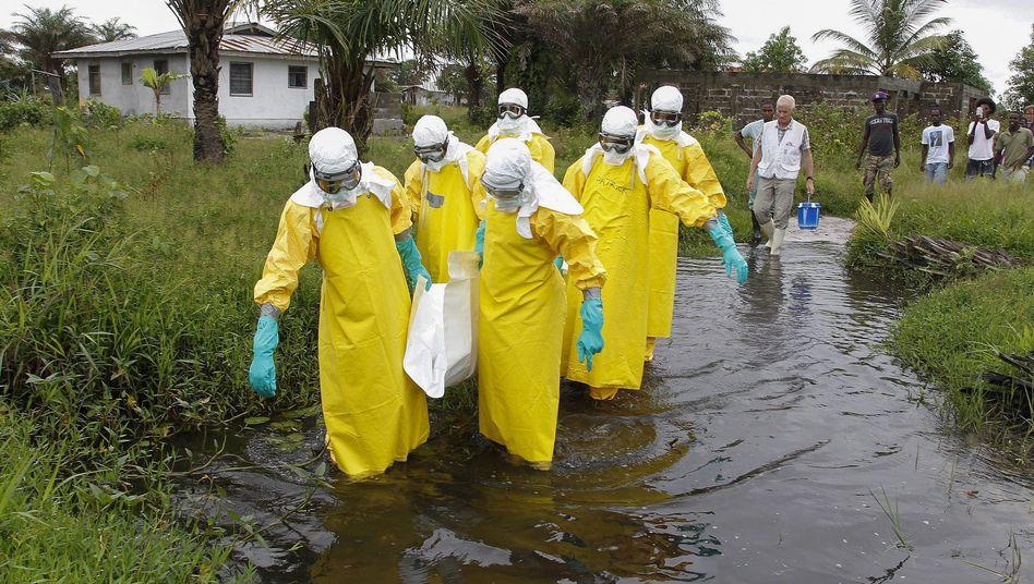 Medizinisches Personal in Westafrika: 42 Tage lang kein neuer Fall (Archivbild)