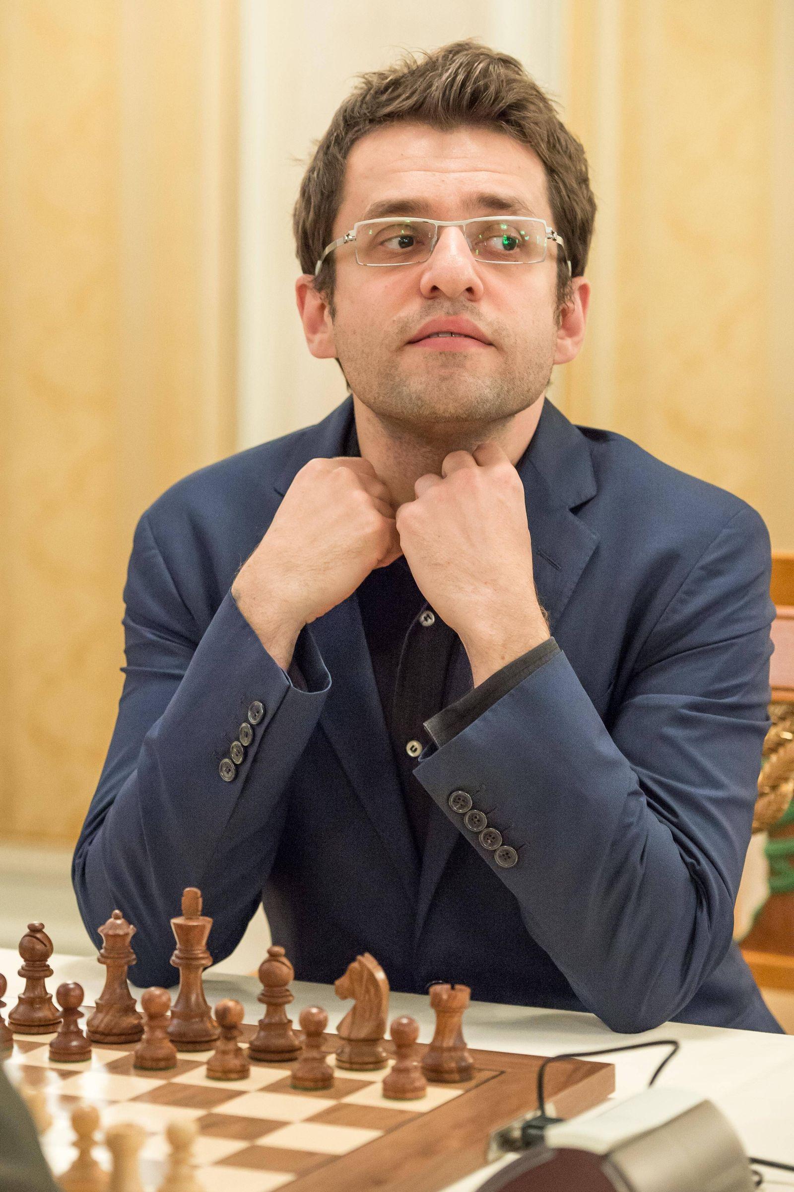 EINMALIGE VERWENDUNG Schachspieler/ Schach/ Levon Aronian