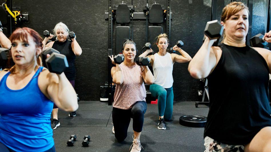 Frauen-Fitness-Session