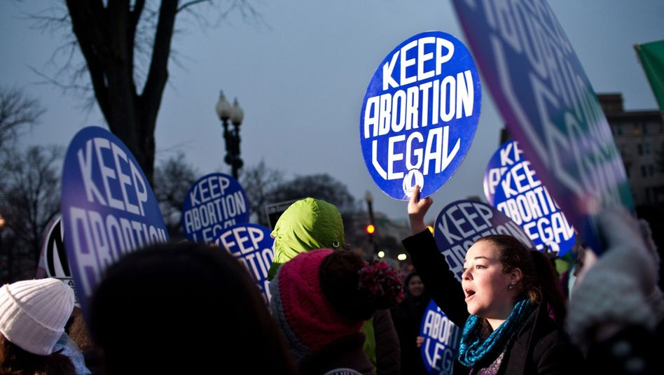 Demo von Abtreibungs-Befürwortern in Washington D.C.