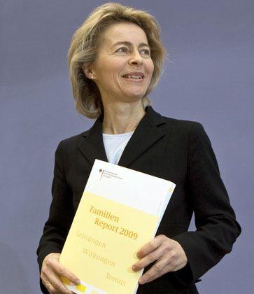 """Ursula von der Leyen mit Familienreport: """"Ein Grund zur Zuversicht"""""""