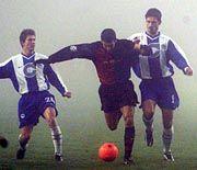Einsatz im Dustern: Hertha am Dienstagabend