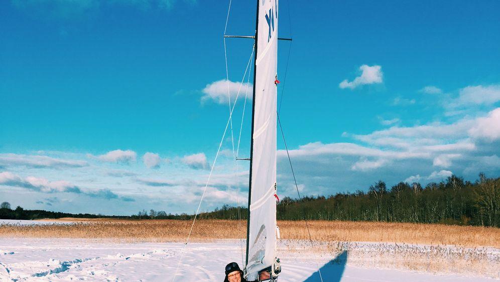 Saaremaa in Estland: Eissegler und Eisschwimmer