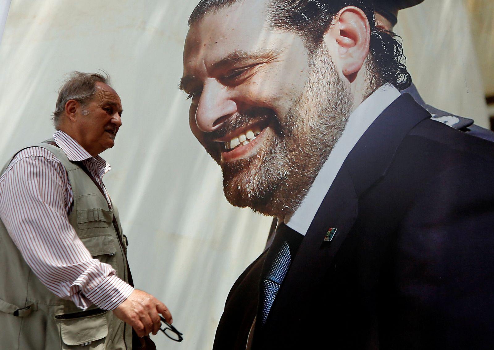Hariri-Plakat Libanon