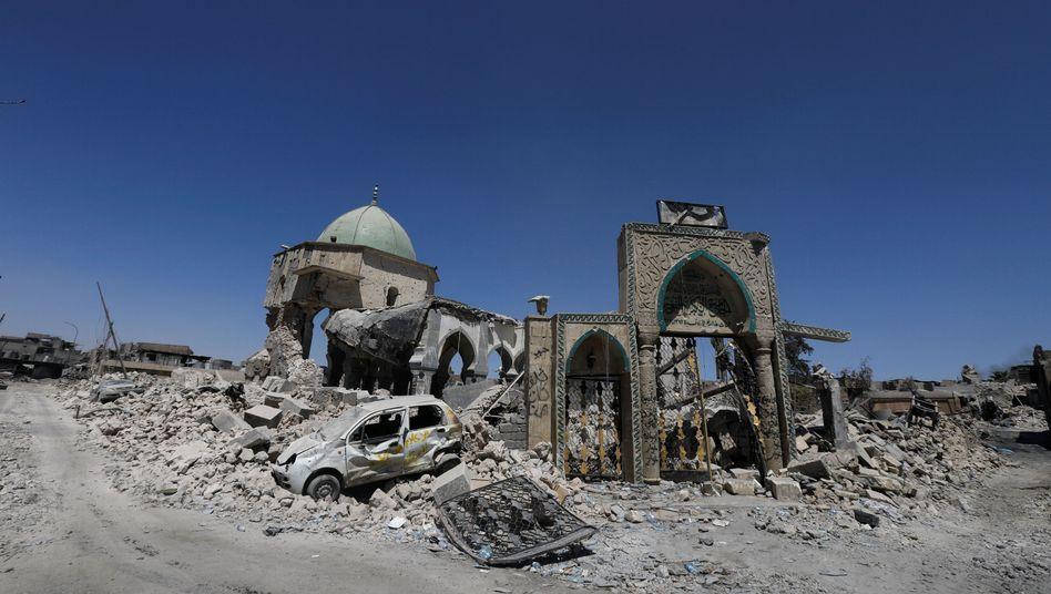 Zerstörte Moschee in Mossul (2017)