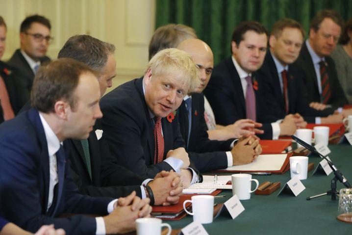Boris Johnson: Papier unter Verschluss gehalten