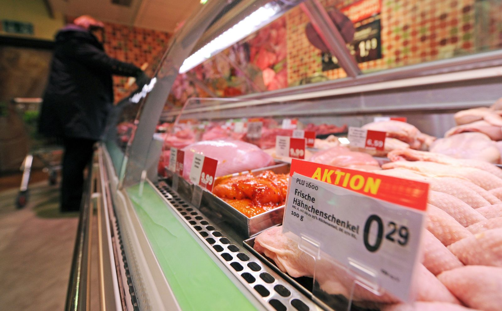 Geflügel im Supermarkt
