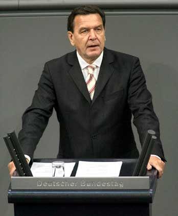 Kanzler Schröder: Hartz bleibt Hartz