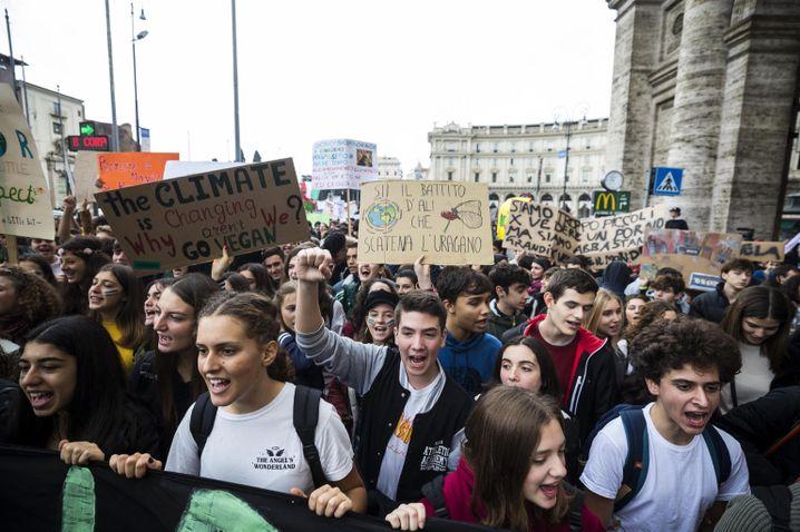 Demonstration für mehr Klimaschutz im November 2019 in Rom