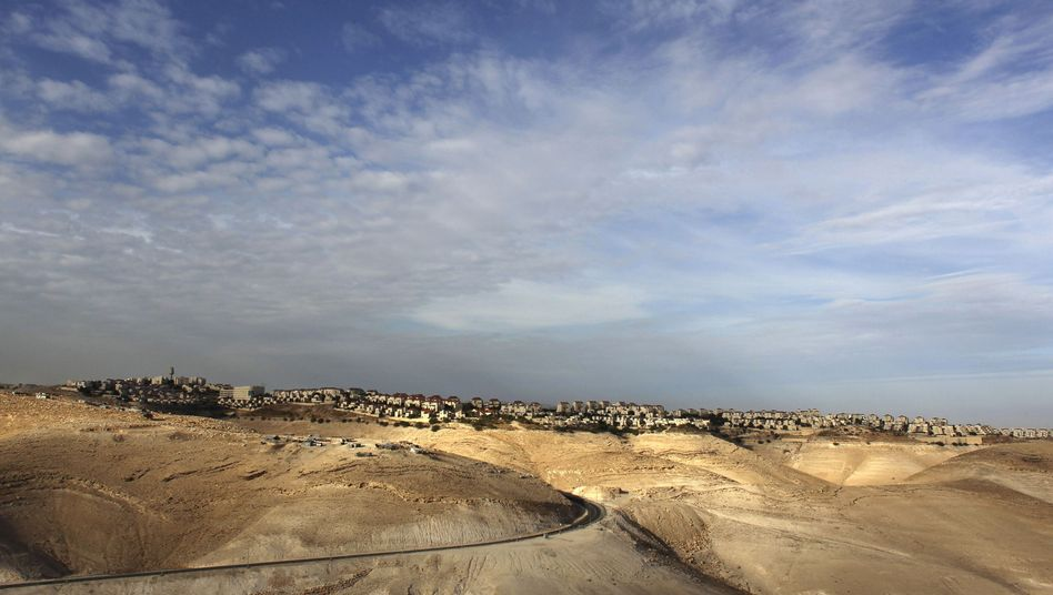 A view of the West Bank settlement of Ma'ale Adumim, near where Israel is planning to expand settlement construction.