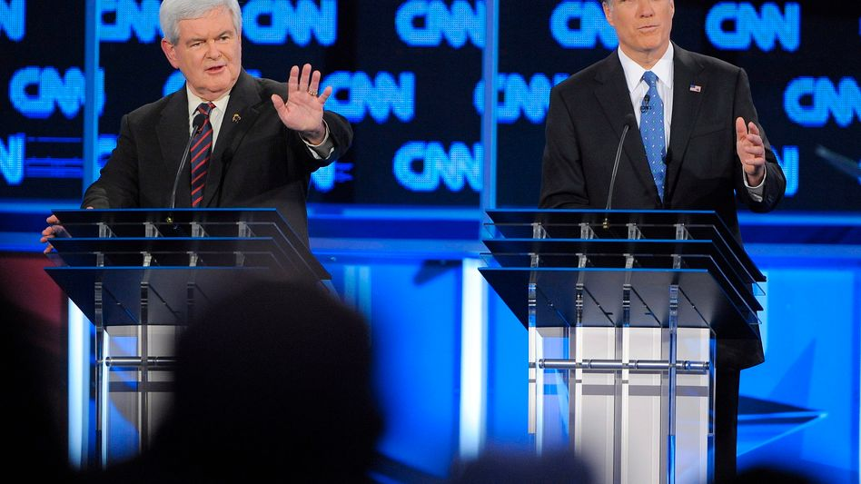 Mitt Romney (r) was considered the winner over rival Newt Gingrich (l) in the latest Republican debate.