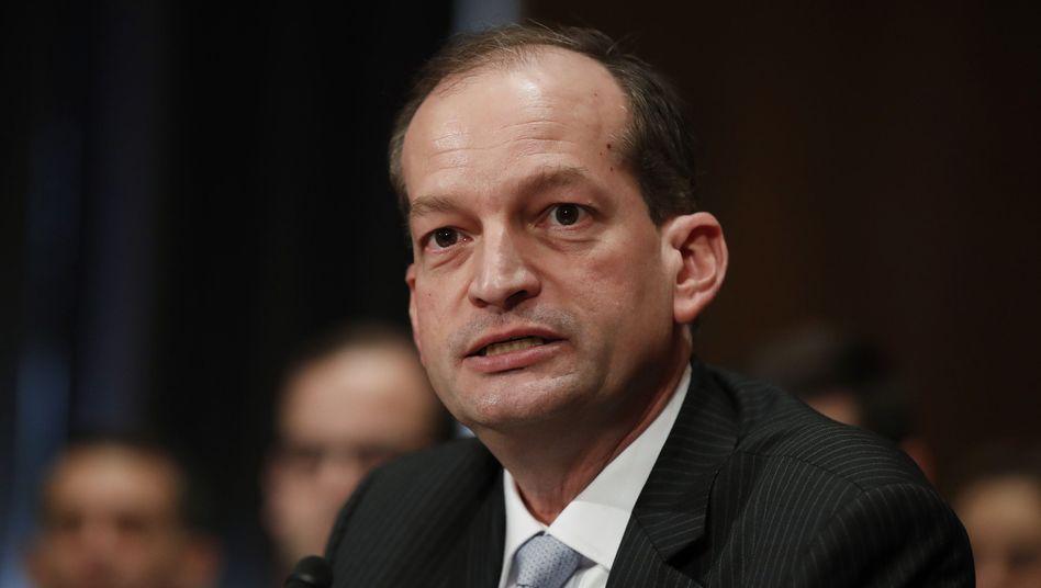US-Arbeitsminister Alexander Acosta